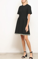 NWT $990 PROENZA SCHOULER Chevron Hem A-Line Dress Size XS