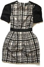 ASOS Petite Size 4 Monochrome Modern Check 50s Style Tea Dress Smart Work Office