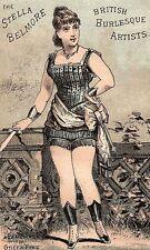 Stella Belmore British Burlesque Artists Greek Fire Trade Card P3