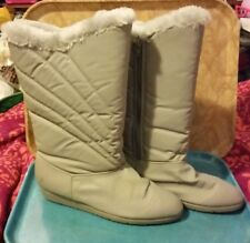 Vintage 80s Jubilee Grey Snow Boots Size 10 Retro Funky Versatile Cool
