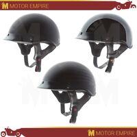 TORC T-53 Half Shell ABS Low Profile Motorcycle Cruiser Bike Helmet DOT XS-2XL