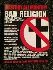 """DESTROY ALL MONTHLY magazine """"Bad Religion"""" cover story January 2002 OOP RARE"""