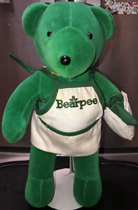 "Rare Green Plush Bear Baby Bare Bears North American Bear Co Bearpee Vintage 13"""