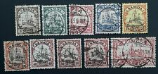 RARE 1901- German Samoa lot of 10 Hohenzollern stamps Used