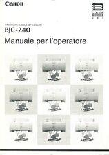 Manuale stampante Canon BJC-240