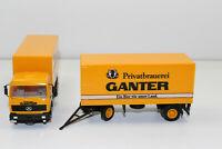 al3029, Alter Albedo LKW Hängerzug MB Brauerei Ganter Bier 1:87 / H0
