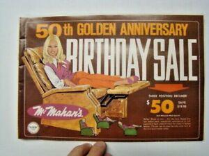 Vintage 1969 McMahan's Catalog Modesto Lodi & Turlock CA 50th Anniversary