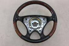 02 Mercedes R170 SLK320 SLK230 steering wheel, wood/leather, black 1704601403