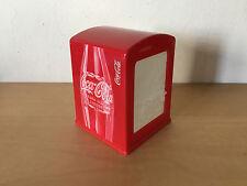 Used - Napkin Box COCA-COLA Caja Servilletas - Red Plastic Rojo - Usada