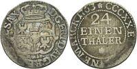 Sachsen Friedrich August II., 1733-1763. 1/24 Taler 1763 #F95