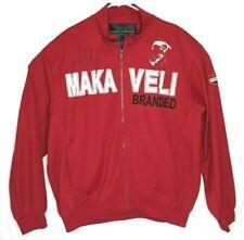 MAKAVELI Branded Track Jacket Tupac  Vintage XL Red Sweatshirt Hoodie