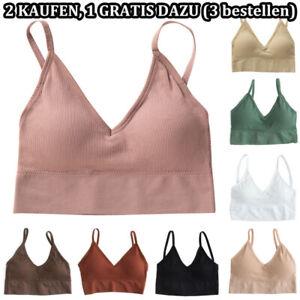 Damen Mädchen BH Bustier Sport Fitness Yoga Bralette Unterwäsche Crop Tops Bras.