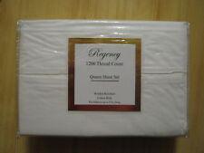 Regency 1200 Thread Count Queen Sheet Set Ivory Color Wrinkle Resistant