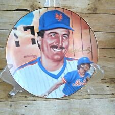 Sports Impressions 1987 Autographed Edition Baseball Plate Keith Hernandez