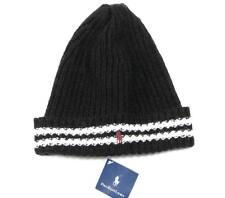 Ralph Lauren Polo Pony Wool & Cashmere Black Ski Beanie Skull Cap Men's NWT