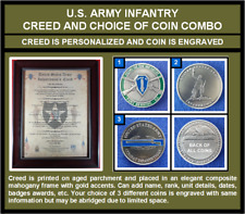 Mc-Better: Personalized Infantry Creed And Engraved Infantry Coin of Your Choice