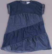 BCBG Girl's Roll Sleeve Asymmetrical Pinstripe Denim Dress AN3 Size 8 NWT $48