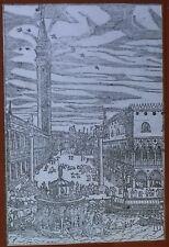 Festival at Venice, Cesare Vecelli 1598 Woodcut, Magic Lantern Glass Slide