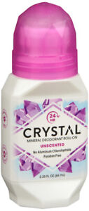 CRYSTAL DEODORANT ROLL ON UNSCENTED 2.25OZ
