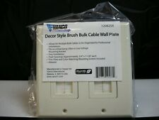 VANCO Decor Style Brush Bulk Cable Wall Plate (120825X)(QTY 1 ea)A034