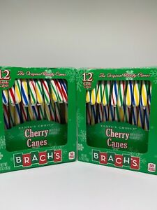 Lot Of 2 Boxes Brach's Cherry Candy Canes, 12 ct, 5.7 Oz. Good Till 5/30/22