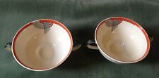 LOVELY PAIR OF ROYAL DOULTON TANGO TWO HANDLED SOUP BOWLS VGC