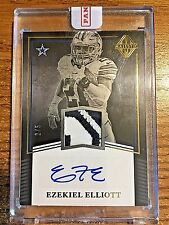 2017 Majestic Gold #EE Ezekiel Elliott Encased 2 Color Patch Autograph #2/5