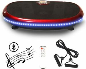 Estleys Vibration Plate Vibrating Power Machine With Remote Control & Bands-Red