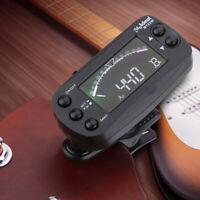 2IN1 Mini LCD Stimmgerät & Metronom Clip Tuner Für Gitarre Bass Geige Ukulele