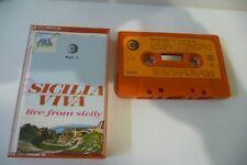 SICILIA VIVA PART.1 K7 AUDIO TAPE CASSETTE TAORMINA FOLK