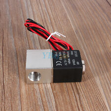 """1/4 """" DC 12V Electrovanne 2 Voies Direct fermé solénoïde Valve Gaz Liquide QS"""