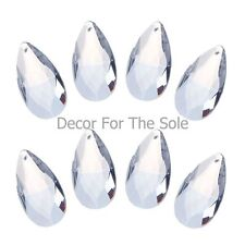 10 Clear Chandelier Glass Crystals Tear Drop Prisms Hanging Drops Pendants 50mm