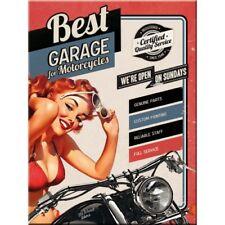 mejor garaje rojo, motos bicicleta chica pin-up 3d Calidad Imán Nevera
