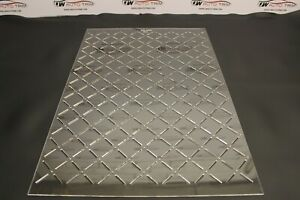 Car Upholstery  - stitch square diamond pattern template 3mm clear acrylic.