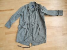 GAP Cotton Military Style Fishtail Parka Olive Green Size Med.
