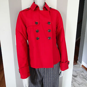 BANANA REPUBLIC PEA COAT  blazer,JACKET,SZ L DARK RED LIGHTWEIGHT H1