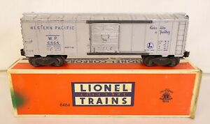 LIONEL #6464-1 WESTERN PACIFIC BOX CAR W/BLUE LETTERS-GOOD+ IN ORIG. BOX!