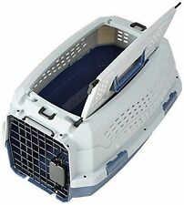 New listing Portable Cage Travel Puppy Dog Cat Carrier Two Door Pets Kennel Safety New