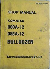 Komatsu Bulldozer D 80 A-12 , D 85 A-12 Betriebsanleitung
