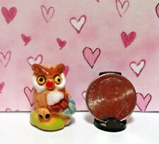 Dollhouse Miniature Figurines - Owl - Colorful and Will Make You Smile