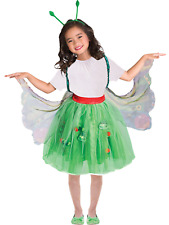 Girls Official Very Hungry Caterpillar Butterfly Book Fancy Dress Costume 3-8yr