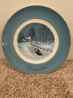 1976 Avon Wedgwood  3rd Edition Series Bringing Home The Tree Christmas Plate