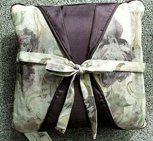 "Croscill Chamboard Amethyst Purple 18"" Bow Tie Pillow Bed BRAND NEW"