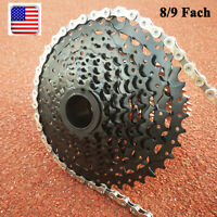 SUNRACE 8 9 10 11s Cassette Aluminum MTB Bike CSM Cycling KMC Chain Sprocket