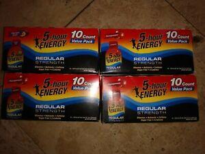 5 Hour Energy Shot regular Strength Berry Flavor 40 bottles