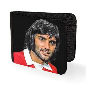 george best wallet credit card art man united football legend red georgie law