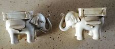 2 Elephant Tea Light Candle Holders Candlesticks - free USA shipping