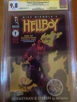 Hellboy #1 CGC 9.8 SS 2x Mike Mignola & Arthur Adams