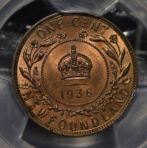 Canada 1936 Newfoundland Cent PCGS MS63RB PC0726 combine shipping