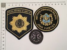 3 ORIGINAL POLICE SWAT SANITARY TACTIC GROUP PATCHES PATCH ARGENTINA 80s 90s